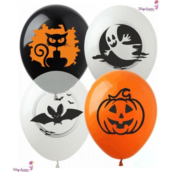 """Латексные шары на Хэллоуин """"Страшилки"""""""