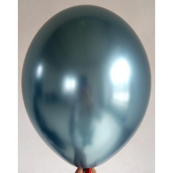 """Латексный шар """"Хром"""", голубой"""