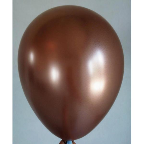 """Латексный шар """"Хром"""", розовое золото"""