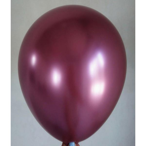 """Латексный шар """"Хром"""", розовый"""