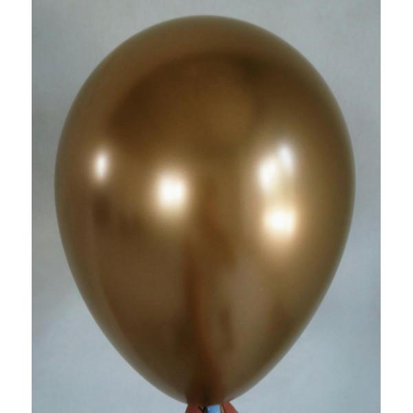 """Латексный шар """"Хром"""", золотой"""