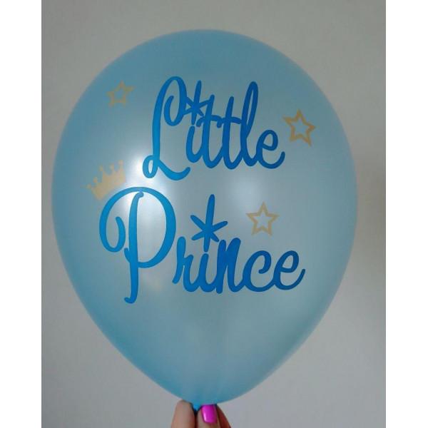 "Латексный шар ""Little Prince"", голубой"