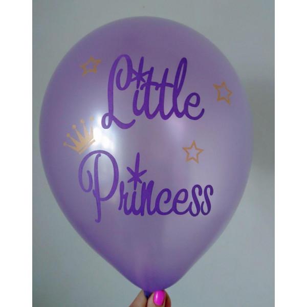 """Латексный шар """"Little Princess"""", фиолетовый"""