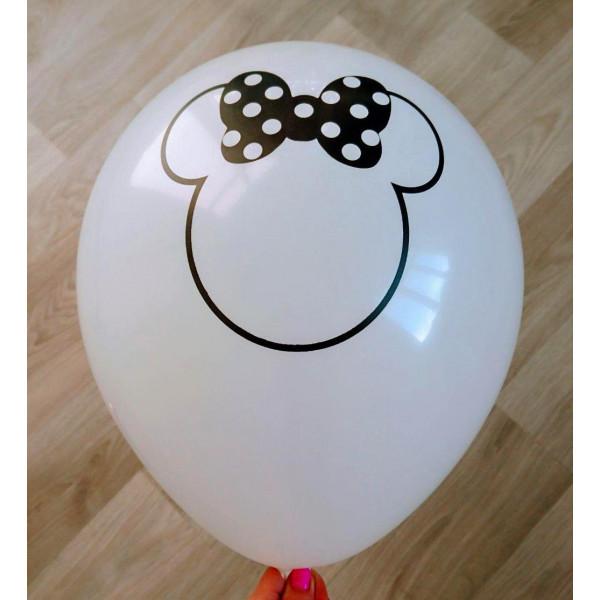 """Латексный шар """"Минни Маус"""", белый"""