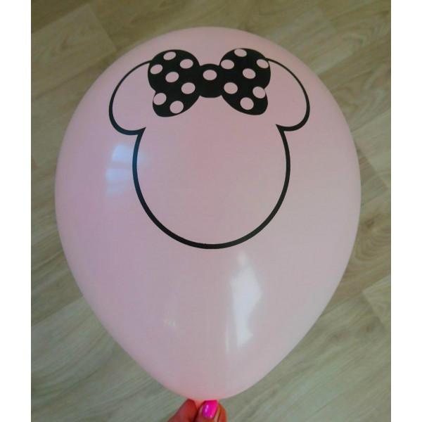 """Латексный шар """"Минни Маус"""", светло-розовый"""