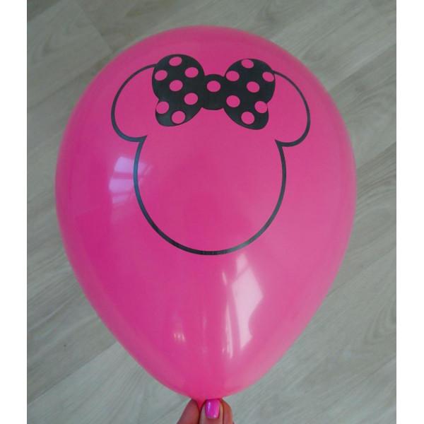 """Латексный шар """"Минни Маус"""", ярко-розовый"""