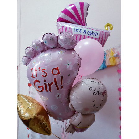 Микс шаров на выписку девочки
