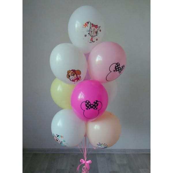 Микс шаров с мультяшными героями для девочки