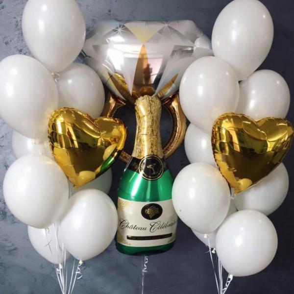 Набор на девичник с кольцом и шампанским