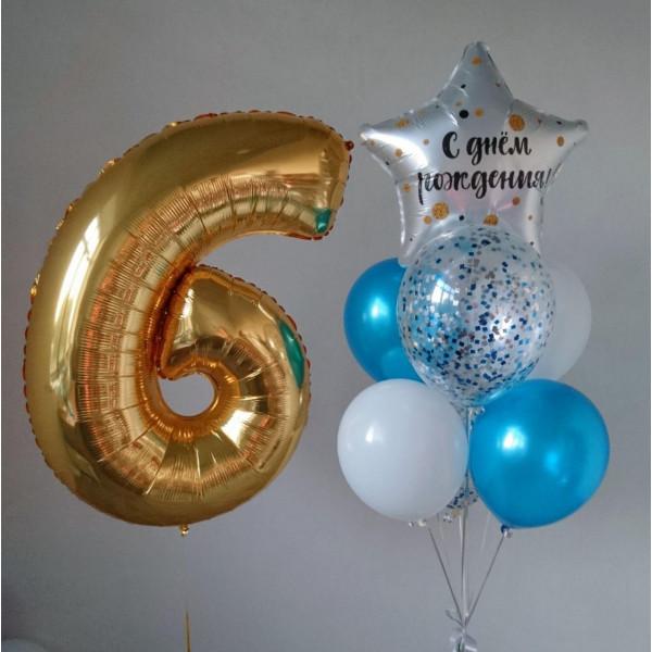 Набор шаров к 6-летию