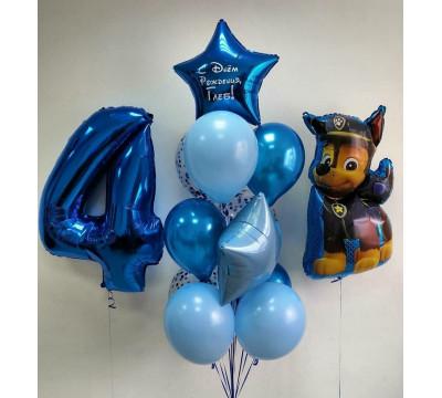 Набор шаров с цифрой и Чейзом ко Дню Рождения