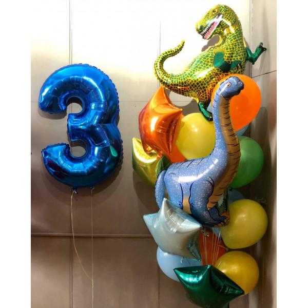Набор шаров с динозаврами ко Дню Рождения