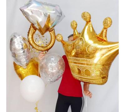 Набор шаров с короной и кольцом