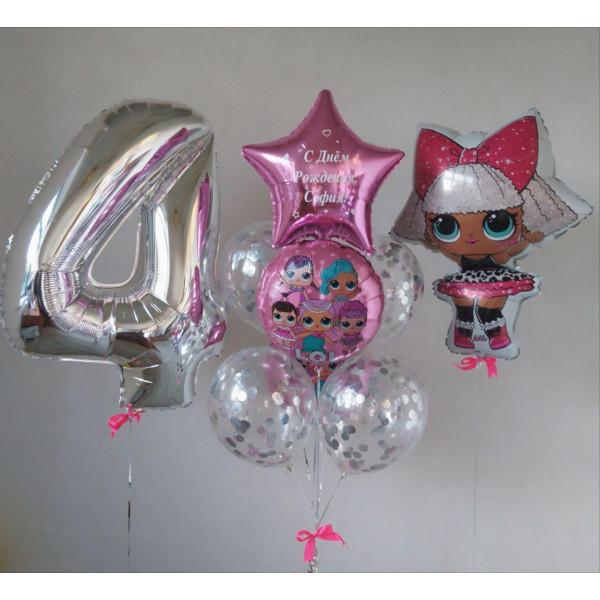 Набор шаров с куклами LOL на День Рождения