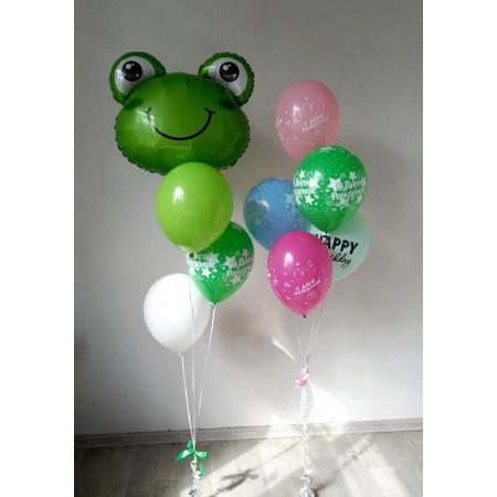 Набор шаров с лягушкой ко Дню Рождения