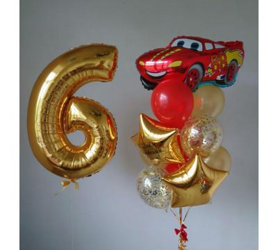 Набор шаров с Молнией Маквин ко Дню Рождения