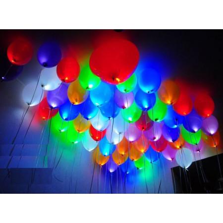 Разноцветные светящиеся шары под потолок