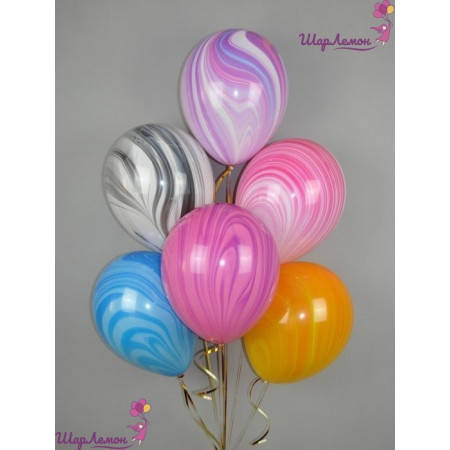 Разноцветный микс шаров агатов