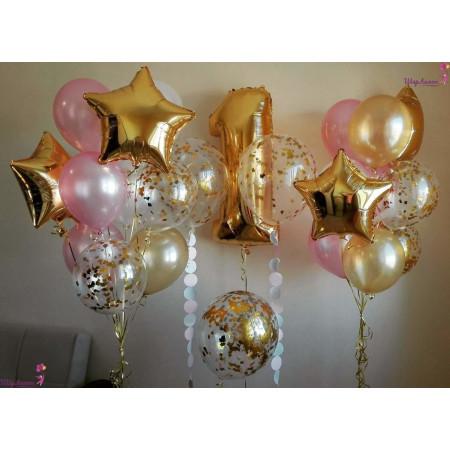 Розово-золотая композиция на 1 год