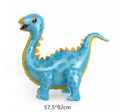 """Стоячая фигура """"Диплодок"""", голубой"""
