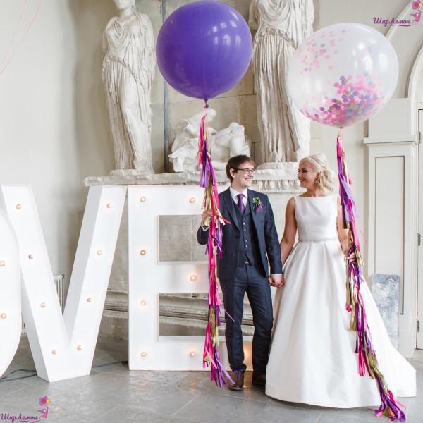 Украшение свадьбы шарами-гигантами