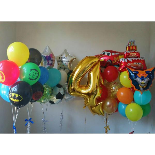 VIP набор шаров для именинника на 4 года