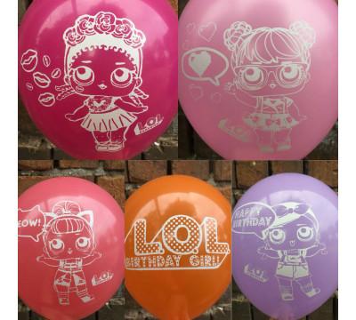 """Яркие латексные шарики """"Куклы Лол"""""""