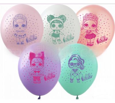 """Латексные шары """"Куклы Лол"""""""