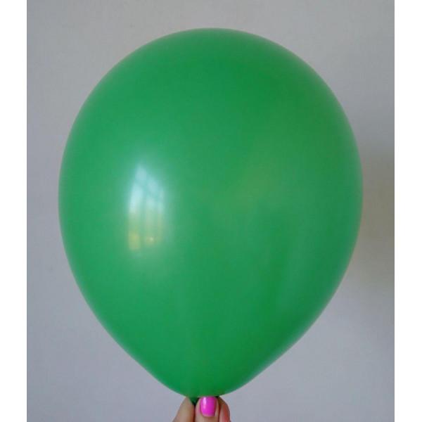 Зеленый латексный шар, матовый