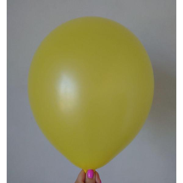 Желтый латексный шар, матовый
