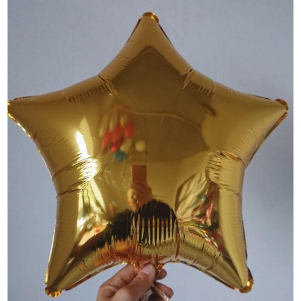 Золотая фольгированная звезда, 45 см