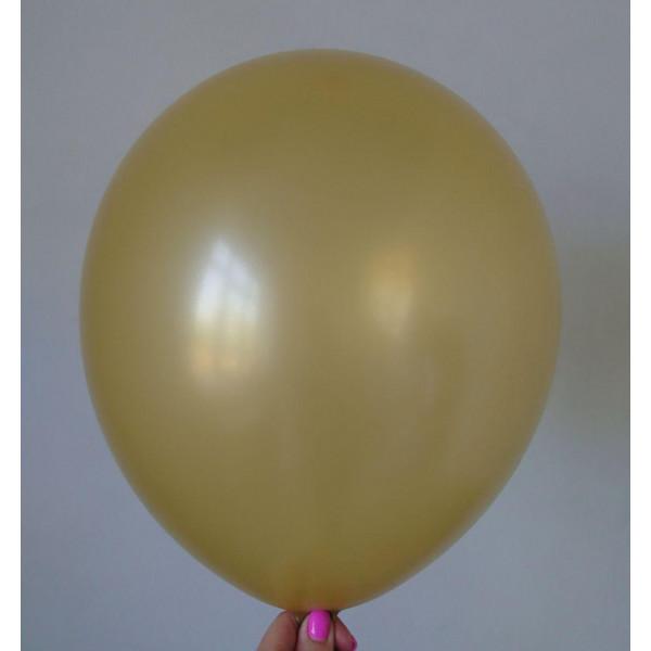 Золотой латексный шар, перламутровый